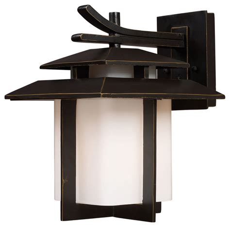Asian Outdoor Lighting Kanso 1 Light Large Outdoor Sconce In Hazelnut Bronze Asian Outdoor Wall Lights And Sconces