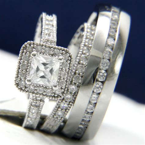 wedding rings cheap bridal sets matching bands for him and