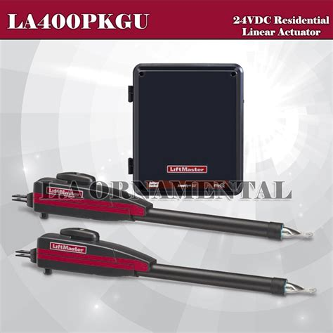 liftmaster dual swing gate opener liftmaster la400pkgu residential dc linear gate operator