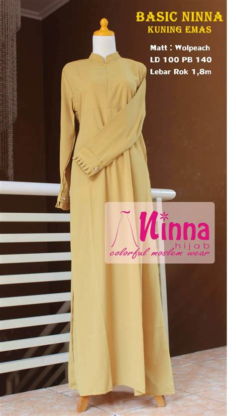 Gamis Wolfis Wolfice Wolpeach Grade A jual basic ninna gamis wolfis wolvis wolpeach polos kuning