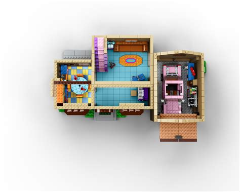 lego house floor plan lego officially announces the simpsons family house 71006