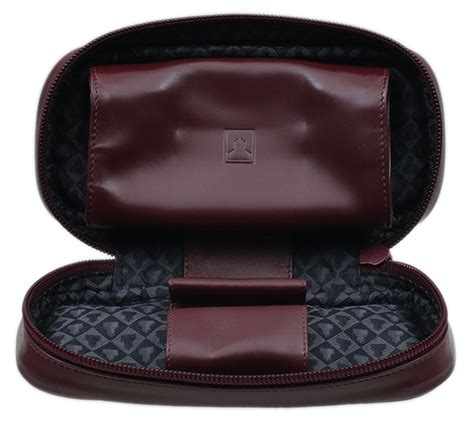 Pouch Castelle pipe accessories leather 2 pipe with pouch