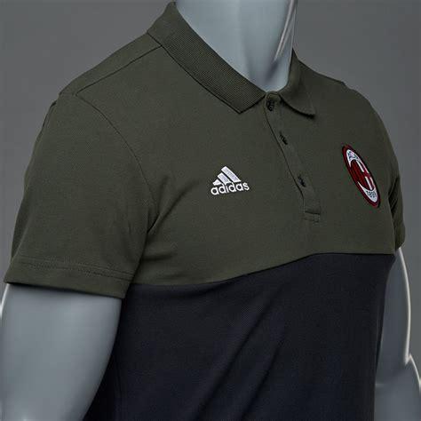 Kaosbajut Shirt Adidas Ac Milan adidas ac milan 16 17 polo cargo black polo s football fashion