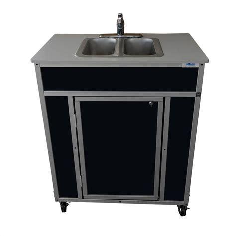 portable shoo sink no plumbing shop monsam black double basin stainless steel portable