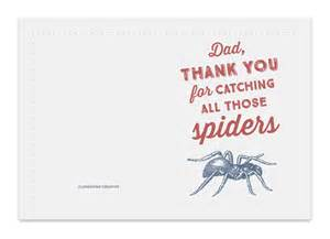 funny printable father s day card spider