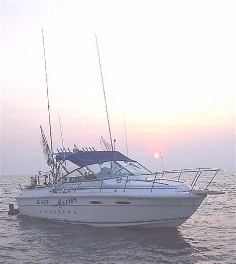 pt boat lake erie bait master charters the boat