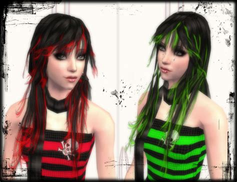 sims 2 emo hair mod the sims quot colorful scene quot xm hair recolors