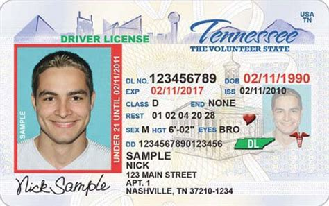 tennessee drivers license template tenn to begin issuing secure driver s licenses wrcbtv