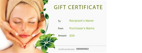spa gift certificate template free best photos of gift certificate templates gift