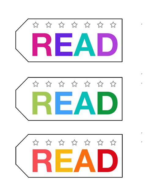 read free punch card bookmark to encourage reward reading it s