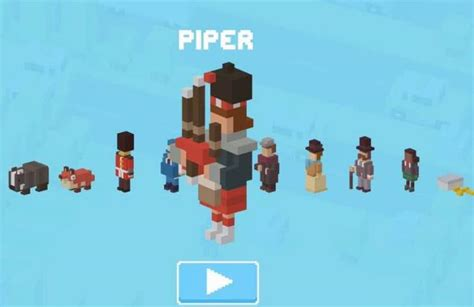 crossy road rare character new crossy road piper character in england update