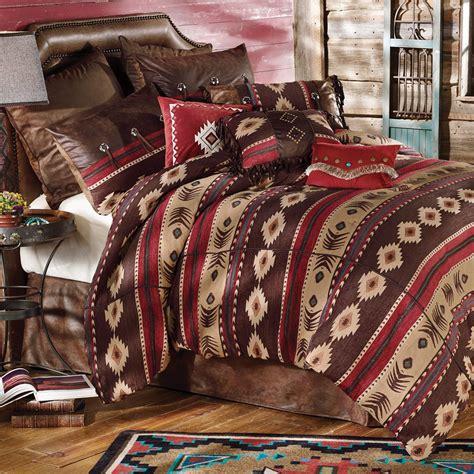 western red triple star comforter set western bedding size desert horizon southwest bed set lone western decor