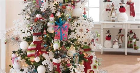 frosty snowman christmas tree ideas raz at shelley b home and how to decorate a snowman themed tree