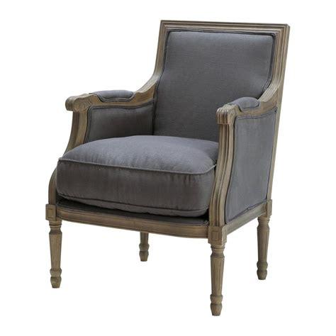 linen armchair linen armchair in grey taupe casanova maisons du monde