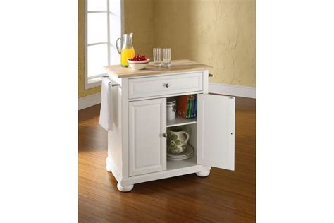 white kitchen island with natural top alexandria natural wood top portable kitchen island in