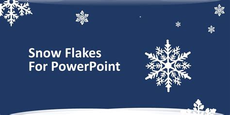 free snowflakes for powerpoint free