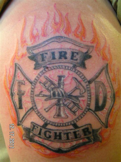 fireman cross tattoo maltese cross tattoos firefighter collection