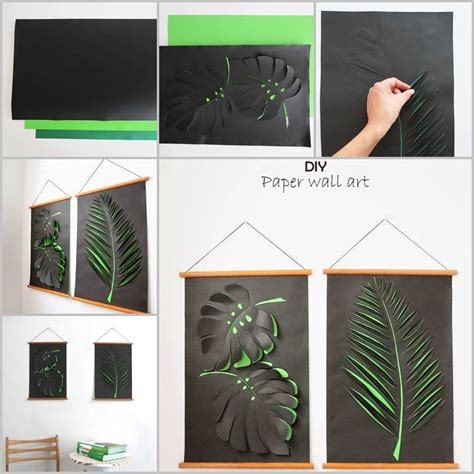 diy wall art creative and simple ideas to use creative ideas diy paper leaf wall art