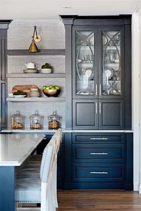 black kitchen cabinets 2017 grasscloth wallpaper wallpaper on back of kitchen cabinets transitional