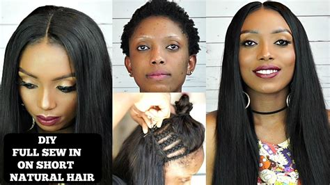 how to leave hair out for sew in diy how to do full sew in weave no leave out on short