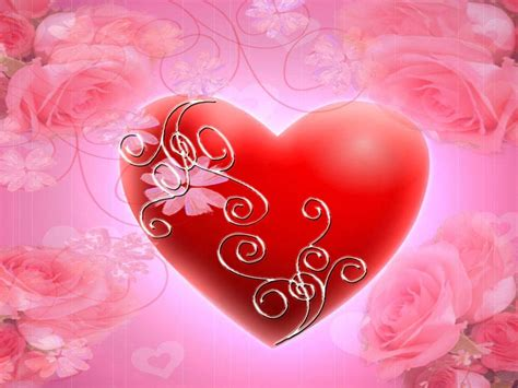 red heart pink roses hd wallpaper wallpaperscom