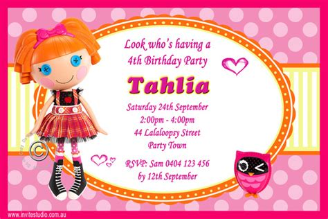 lalaloopsy party invitations template best template free lalaloopsy birthday invitations bagvania free