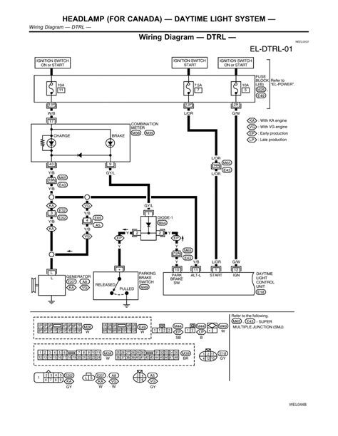 nissan headlight wiring diagram nissan frontier headlight