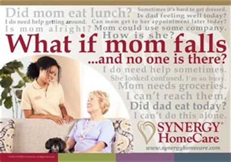 is home care right for me synergy homecare of waupaca