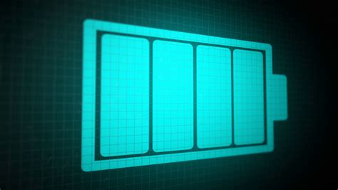 battery color looped animated background with charging battery icon blue