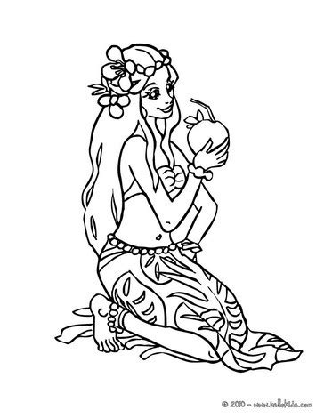 Hawaiian Princess Coloring Pages Hellokids
