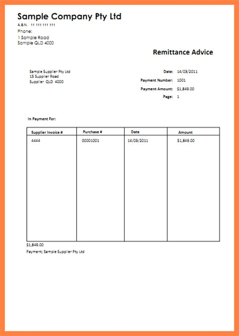 remittance slip template 9 sle remittance advice slip salary slip
