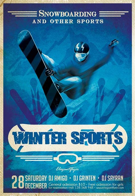 sports flyer template free top 10 free winter flyer templates for photoshop