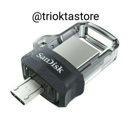 Sandisk Otg Flashdisk Ultra Dual Usb Drive 3 0 32gb Putih Dan Hitam jual sandisk flashdisk ultra dual drive usb 3 0 otg 32 gb triokta