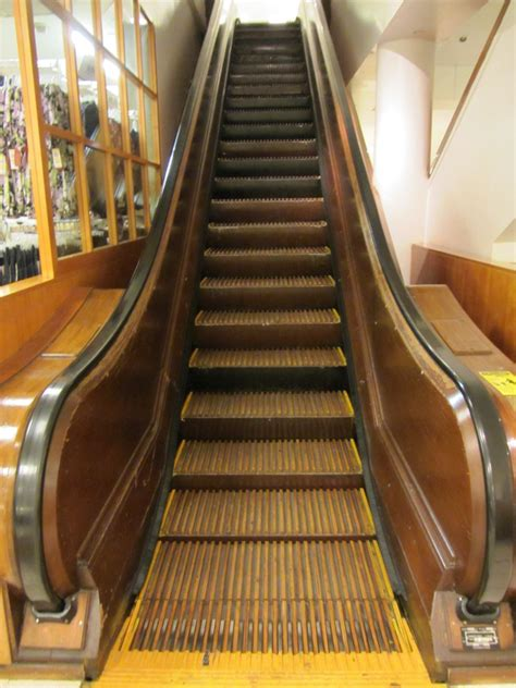 woodwork new york wood escalator in macys bike odyssey