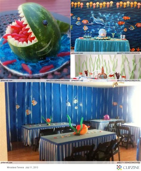 baby shark theme under the sea theme party undersea 15 pinterest