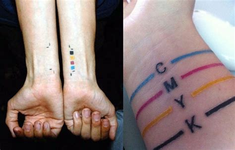 cmyk tattoo tattoo pinterest
