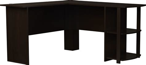 Gaming Corner Desk L Shaped Corner Desk Workstation Computer Home Office Executive Gaming Brown Ebay