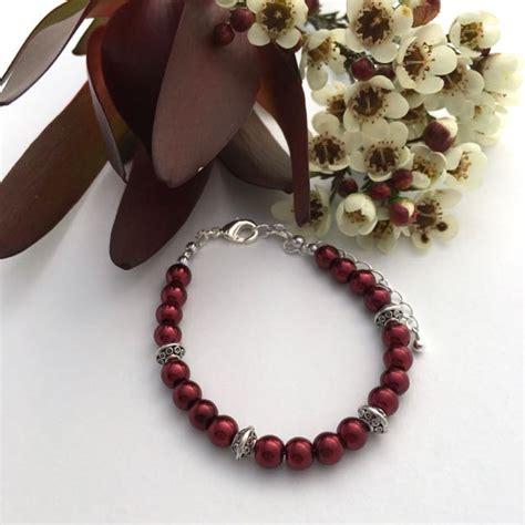 red beaded christmas gift bracelet lime jewellery