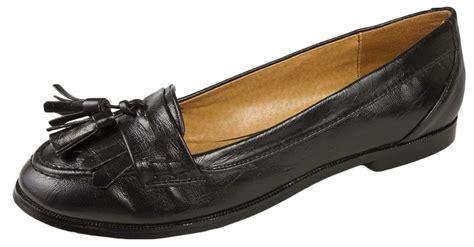 school loafers womens black tassel loafers faux leather school