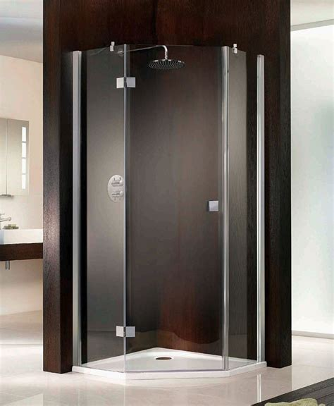 Angled Grab Bar Bathroom by Hsk Atelier Single Pivot Door Pentagon Shower Enclosure