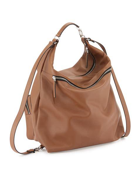 Marni Tinsel Leather Handbag by Lyst Marni Pocket Leather Hobo Bag In Brown