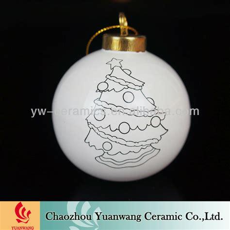 diy x mas decor ball unpainted ceramic christmas ornaments