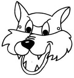 big bad wolf template m 225 scaras para imprimir y colorear de animales