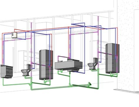 Design A Bathroom Layout revit mep 2010 plumbing design 101c