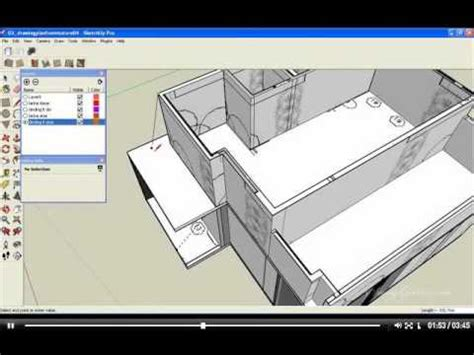 google sketchup roofing tutorial youtube tips trik google sketchup 09 drawing roof youtube