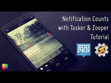 tutorial tasker notification counts using tasker zooper tutorial