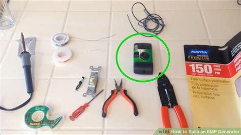 capacitor emp generator simple ways to build an emp generator wikihow