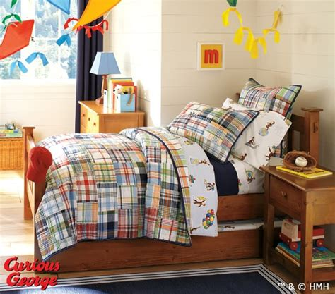 curious george bedding curious george sheet set pottery barn kids