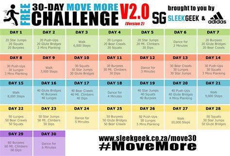 days challenge sleekgeek s 30 day movemore challenge sleekgeek