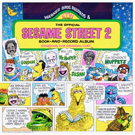 two times platinum books the official sesame 2 book and record album